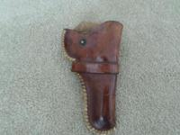J.H.HEISER RANCH HOLSTER WOULD FIT A 38 OR SMALLER, IN