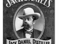 Jack Daniel s - Portrait Tin Sign 12.5 Wx16 H NEW