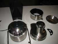 Jack LaLanne juicer, all stainless steel. Works very