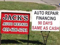Full service auto repair shop, offering competitive
