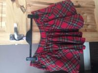 Jack Will tartan skirt. Had a button top with a zip at