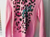This is a pink heart to heart medium jacket for sale.