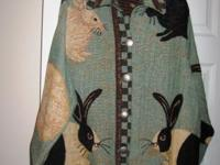 Jacket with Black & White Rabbits Women's,