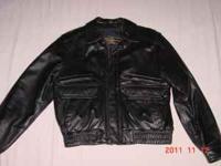 Jacket, Men's black leather size medium, Raffealo