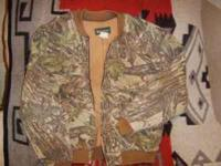 Realtree camo pattern, XL Regular, Thermal Lining.