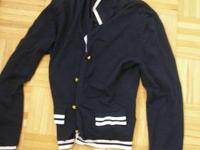 1. Blue sailor jacket by esisto - Size M 2. Brown