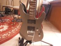 Gun Metal Gray Jackson electric guitar about 4 months