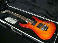 JACKSON DX10D DINKY ELECTRIC GUITAR TRANS AMBER