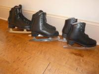 Have three pairs of boys figure skates for sale.Size 4