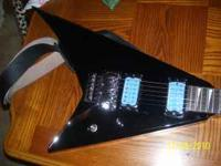 jackson rx10d guitar with upgrades. black with light