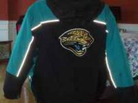 Jacksonville Jaguars Black/Teal Heavyweight Jacket XL
