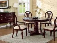 THIS IS THE JACLYN SMITH FAUX-MARBLE DINING SET. HAS A