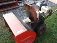 JACOBSEN HEAVY DUTY SNOW BLOWER . IT IS AN IMPERIAL 26