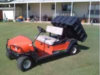 Jacobsen haulmaster 1200 utility cart with hydraulic