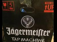 Jagermeister 3 bottle tap machine. This machines cools