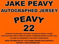 Jake Peavy Autographed Jersey 3 Time MLB All Star 2007