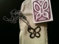 Authentic James Avery butterfly necklace with card and