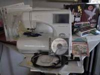 I have a Janome Memory Craft 9000 sewing/embroidery