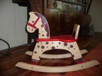 Beautiful Jano Wooden Rocking Horse! From Janod, a