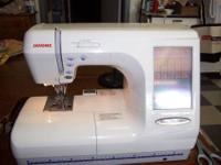 This machine does everything..embroidery and sewing.