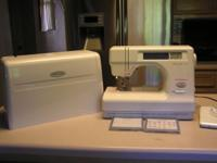 Janomi Memory Craft sewing machine that also monograms!