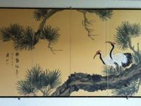 This is beautiful, hand painted, Japanese screen