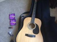 I am offering my Jasmine S-35 Acoustic guitar. It is