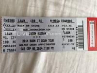 One lawn ticket to Jason Aldean Saturday September 6 at