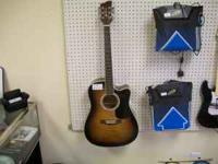 This guitar is in tobacco burst and plays great. Has a