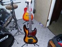 like new jay turser jazz bass excellent condition one,