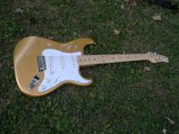 New Jay Turser Strat copy in Ultra cool Aztec Gold