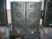(4) JRX100 2-15 $750.Pair. Normal minimal wear, Very