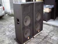 For sale- JBL SR-4733X dual 15's 2-way speakers