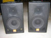 Used, but in good condition. This is a pair of JBL SRX