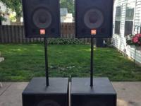2 JBL SR4722X and two SR4718X speakers. Have some