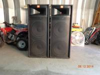"Two-Way Loudspeakers with 2-15"" LF drivers and a JBL"