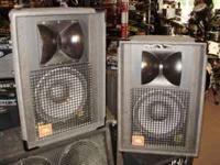 This is a pair of JBL SR4722A speakers. They have 12""