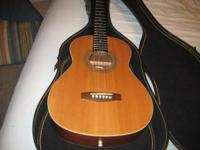 JBP 3/4 size acoustic guitar with hardcase. In very