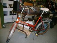 Fold up bike made by JC Penneys. Nice rare old find.