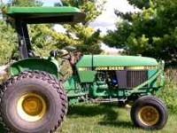 Great tractor! JD2155 with turf tires-power