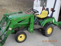 2004 John Deere 2210 Sub-Compact Tractor, 4 wheel