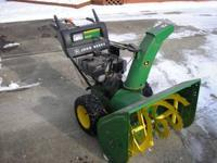 John Deere Model 1032D 2-stage walk-behind snow blower,