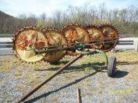I have for sale a 4 wheel pull type rake. We put about