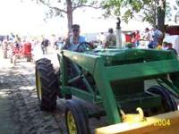 Good tractor original, w/JD loader made to fit. Runs