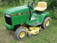 "John Deere LX186 lawn tractor for sale. 38"" mower deck."