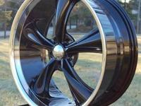 Wheel and Tire PACKAGE: BOSS 338 - Black 18x8