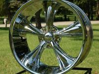This is for ONE (1) new Boss 338 CHROME 20x10 wheel -