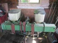 Selling my 2 row planter, its on 3 point and works