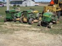 Jd 110 has deck pan style seat, jd 110 newer style Jd