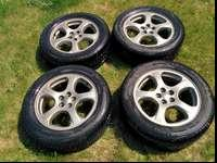 For Sale is a set of four JDM Subaru Legacy GT-B wheels